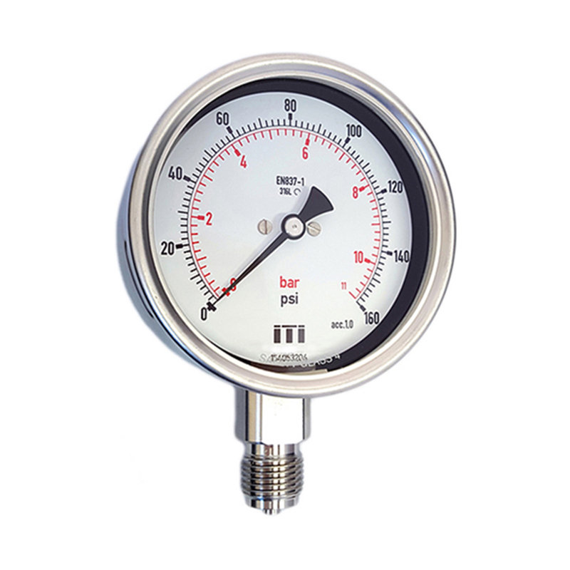 100mm All SS Process Pressure Gauge DIN Case