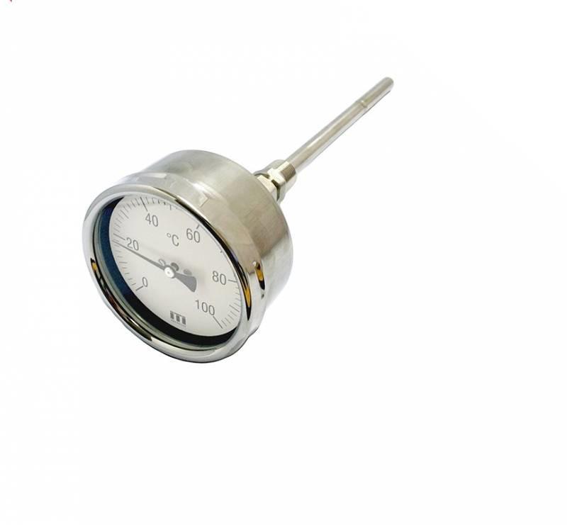 Horizontal Rigid Stem Dial Thermometer